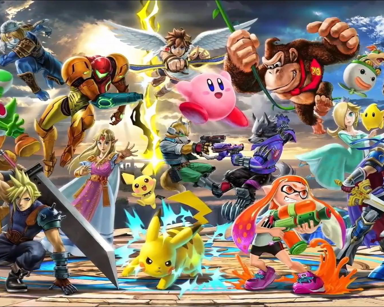 Free Download Super Smash Bros Everyone Is Here Hd Wallpaper