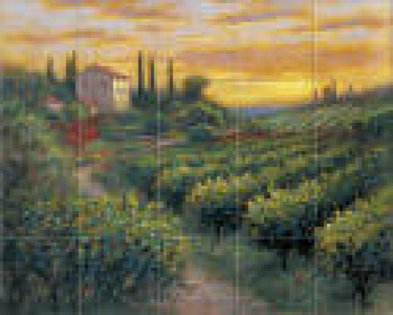 - Free Download Tuscan Tuscany Scenes Kitchen Backsplash Tile Murals