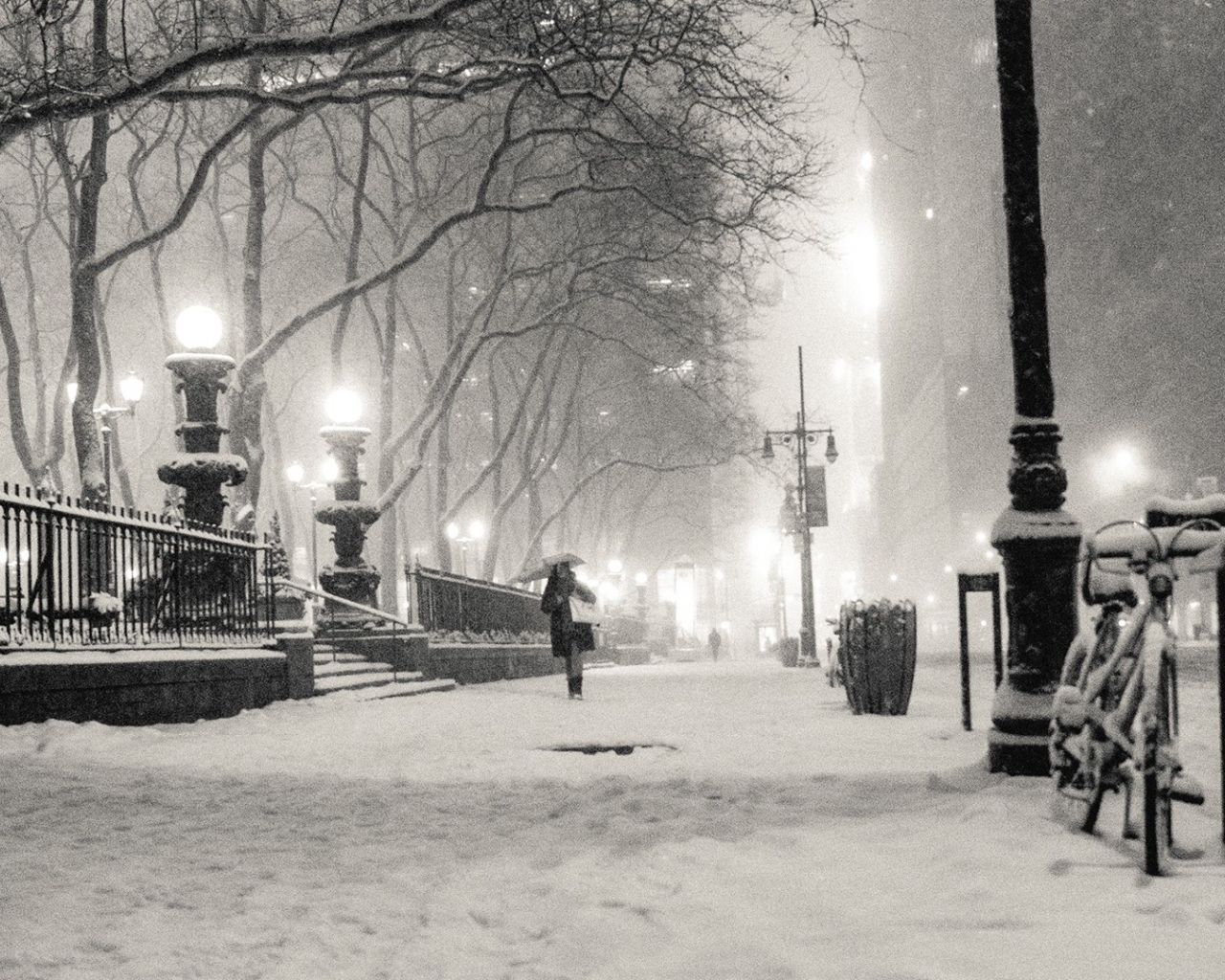 Free Download Wallpapers Black And White Winter Snow New York City