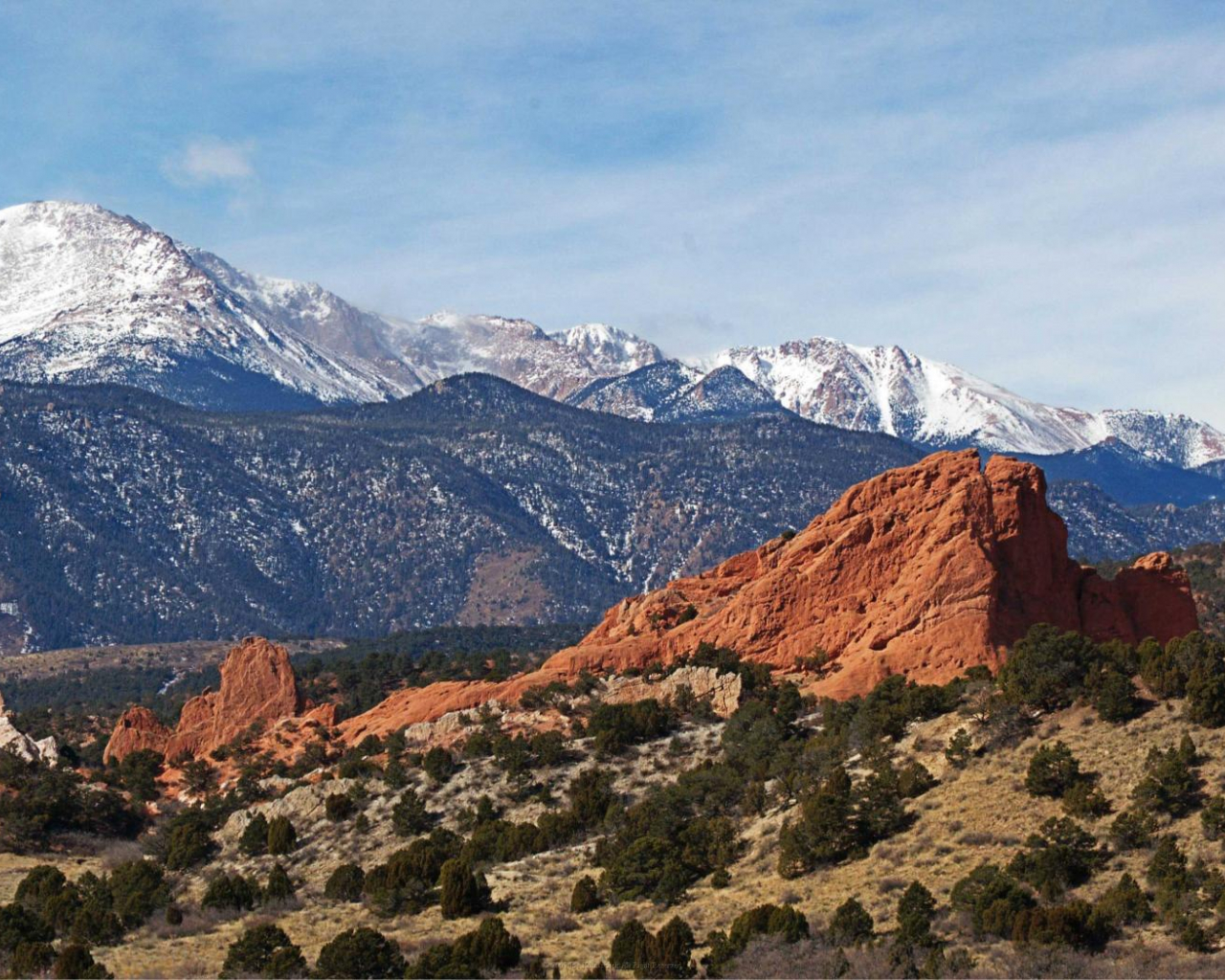 Free Download Mountains Landscapes Pikes Peak Garden Of The Gods