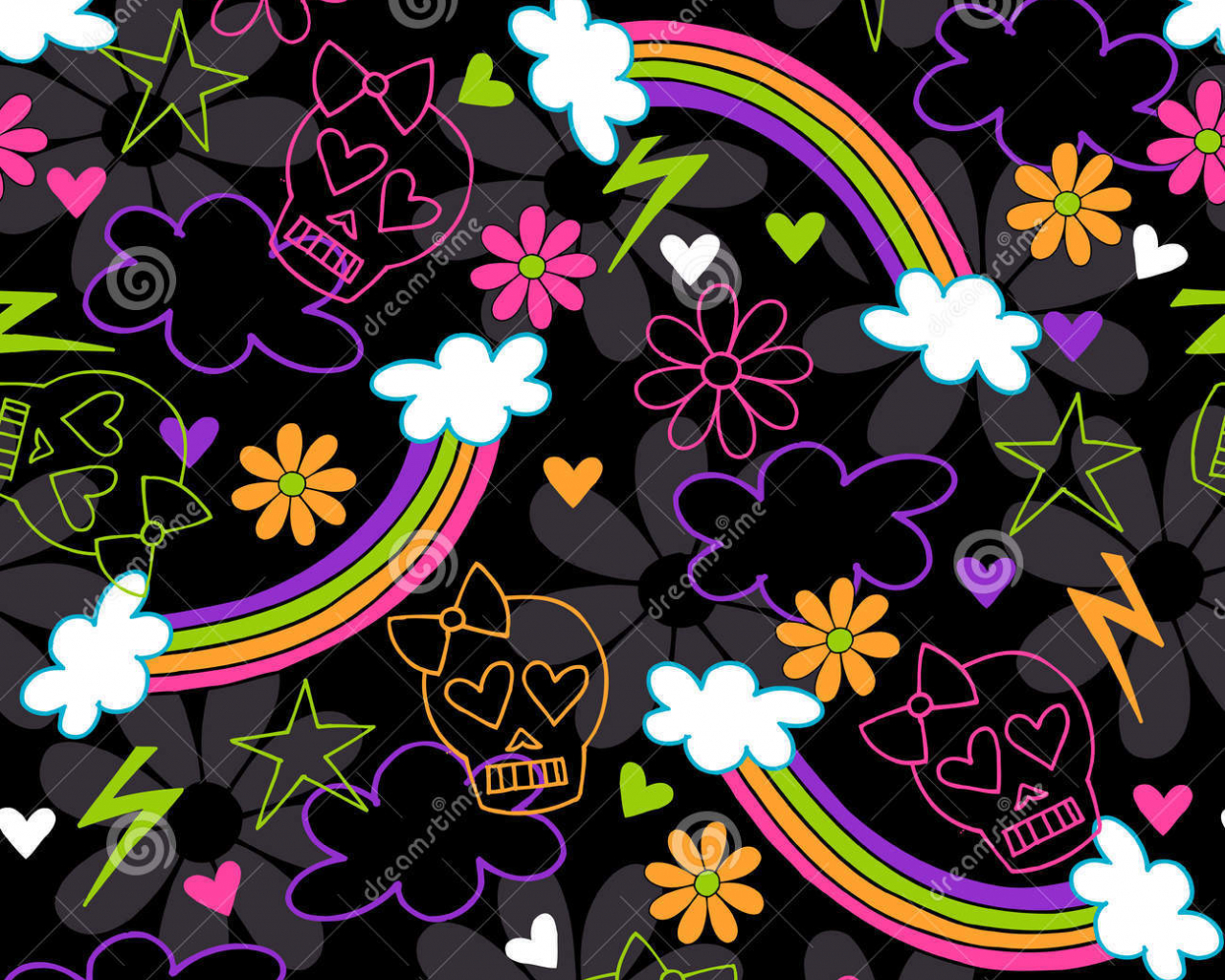 Free Download Girly Skull Pattern Wallpaper Girly Skulls