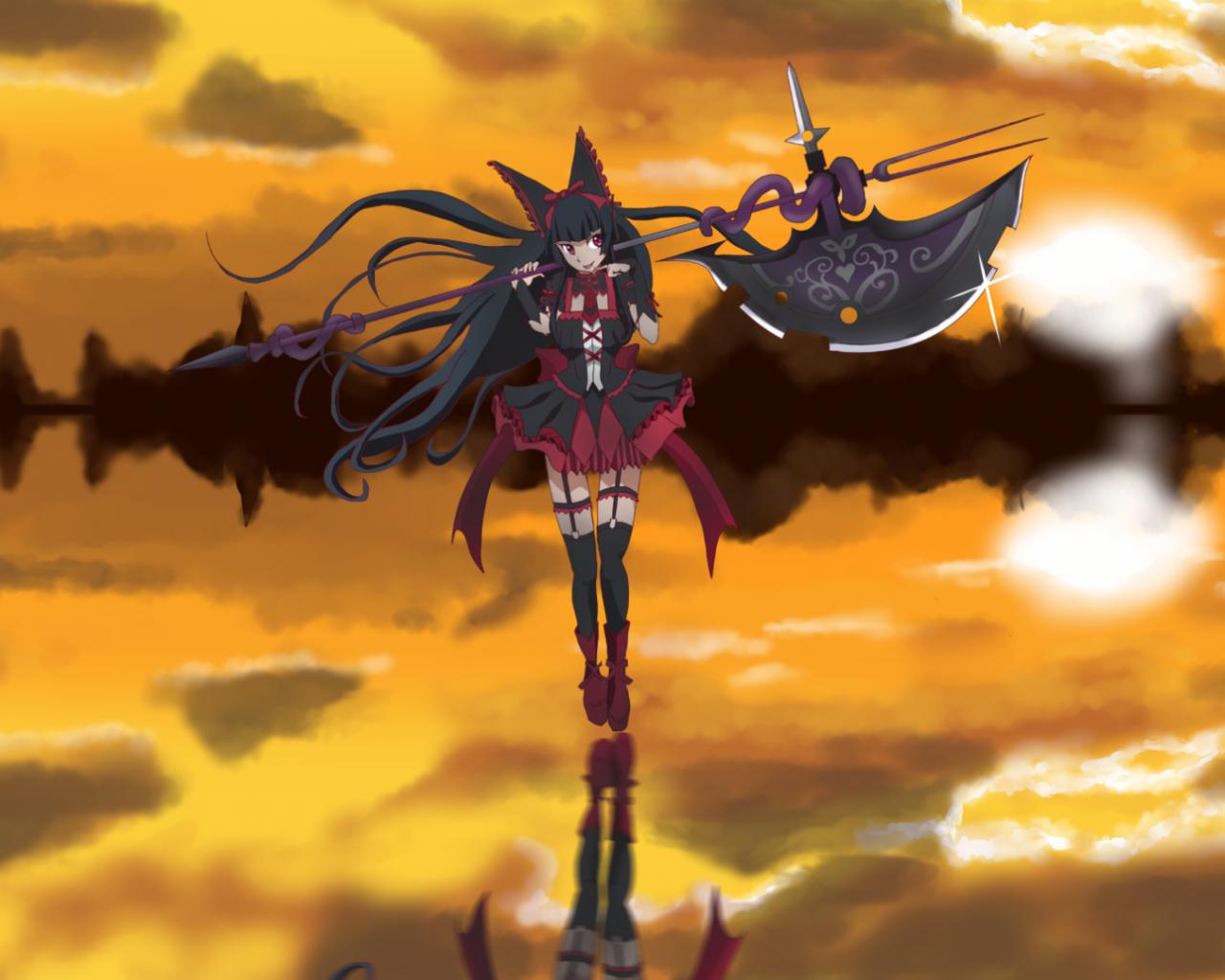Free Download Anime Gate Jieitai Kanochi Nite Kaku Tatakaeri Rory