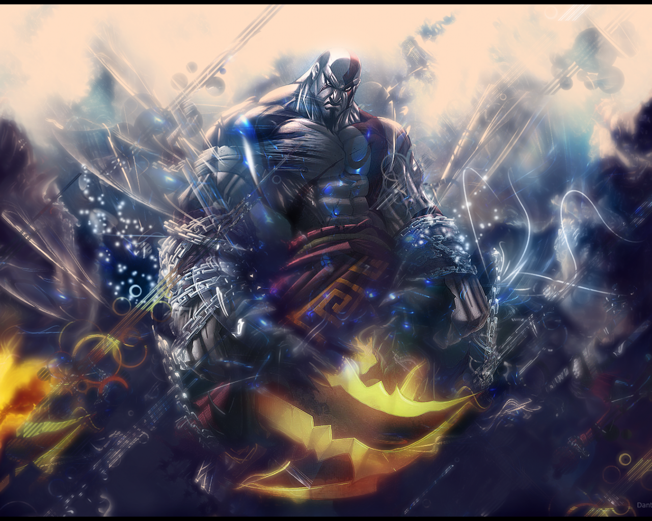 Free Download Kratos God Of War Tattoo Video Game Hd
