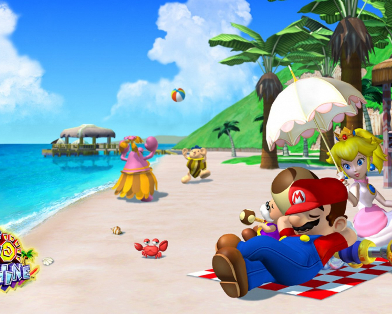 Free Download Super Mario Sunshine Hd Wallpaper Background Image