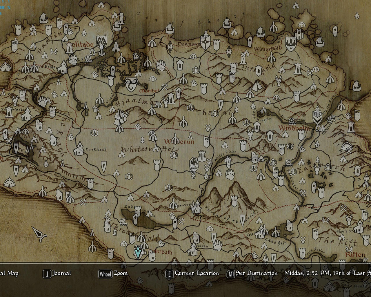 Free download Skyrim Map Map with height at skyrim