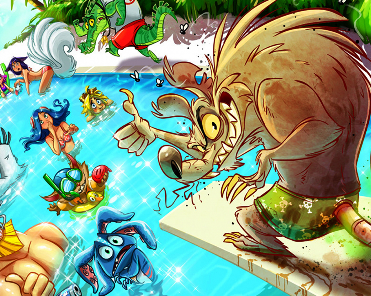 Free Download Pool Party Twitch Wallpaper Hd 1920x1080 For