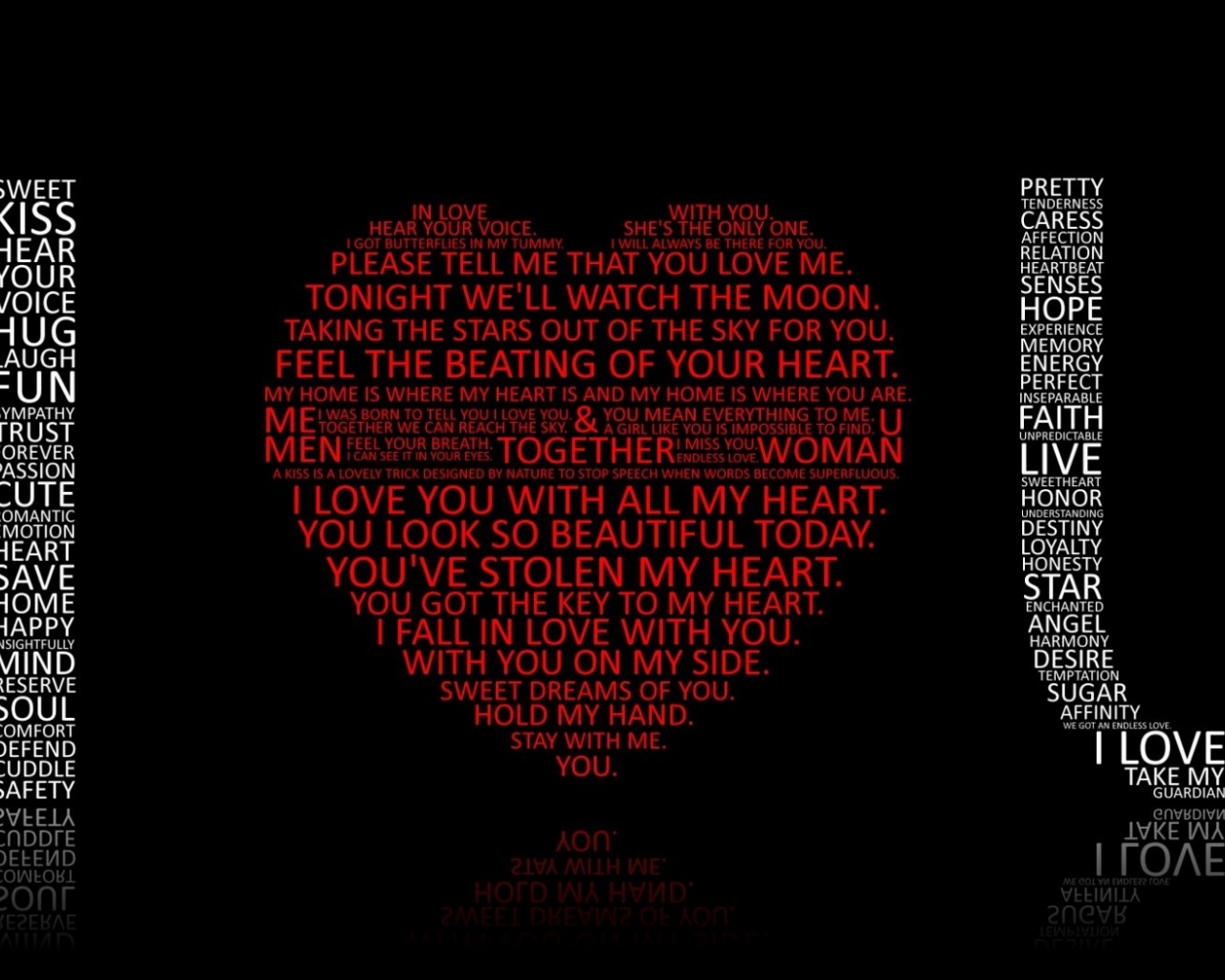 Free Download I Love You Words Hd Wallpaper 1680x1050 For Your