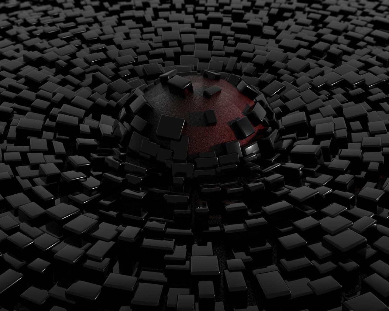 Free Download 3d Abstract Black Blocks Hd Wallpaper Hd Wallpapers