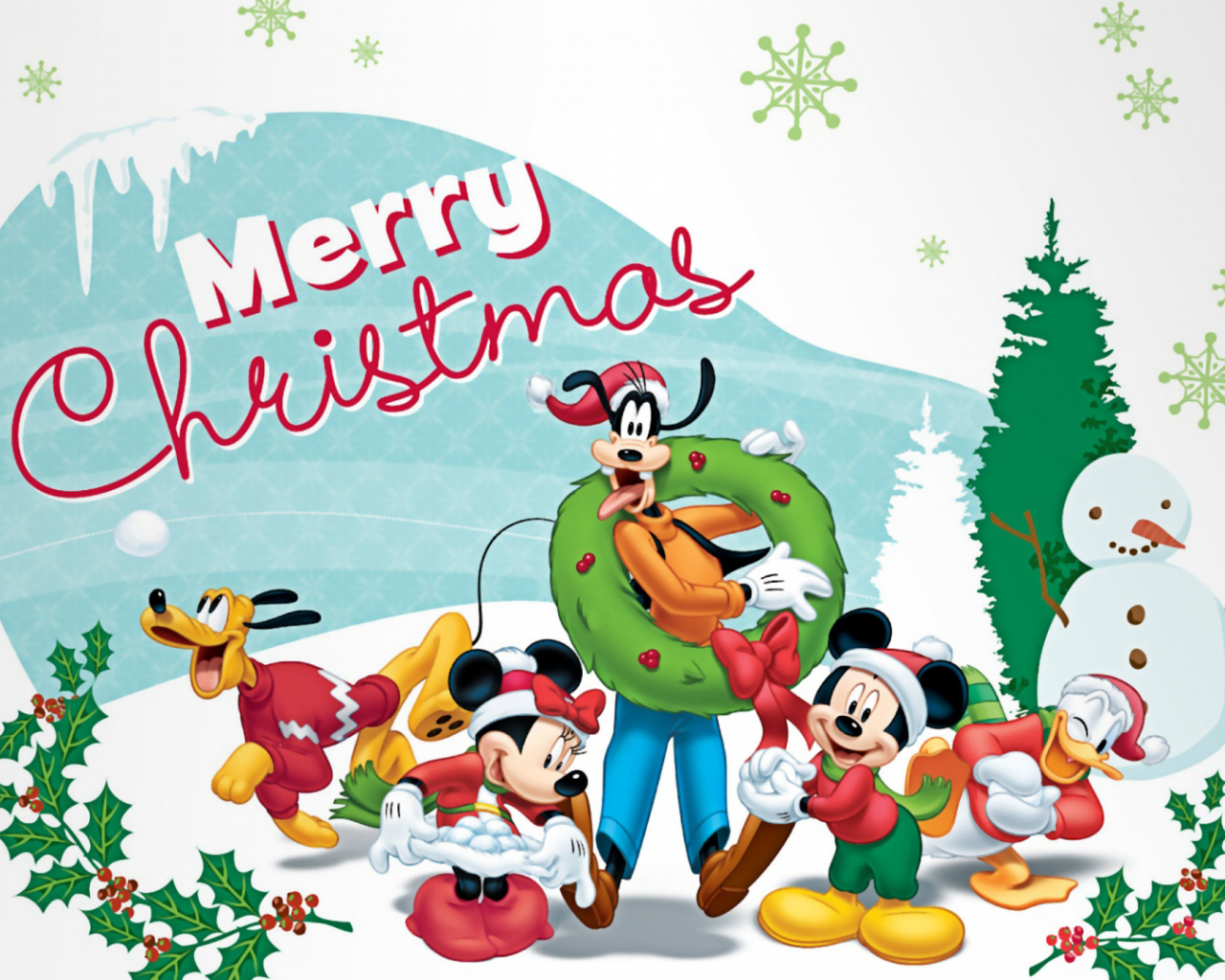Free Download Minnie Mickey Mouse Disney World Christmas Wallpaper