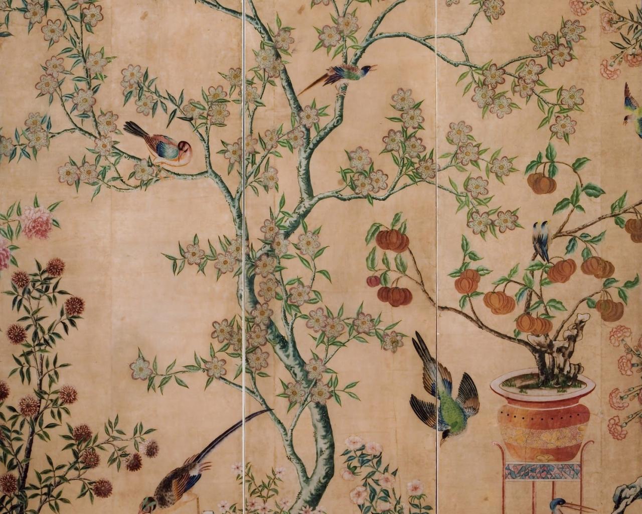 Free Download Wallpaper Chinoiserie Wallpaper Antique Wallpaper