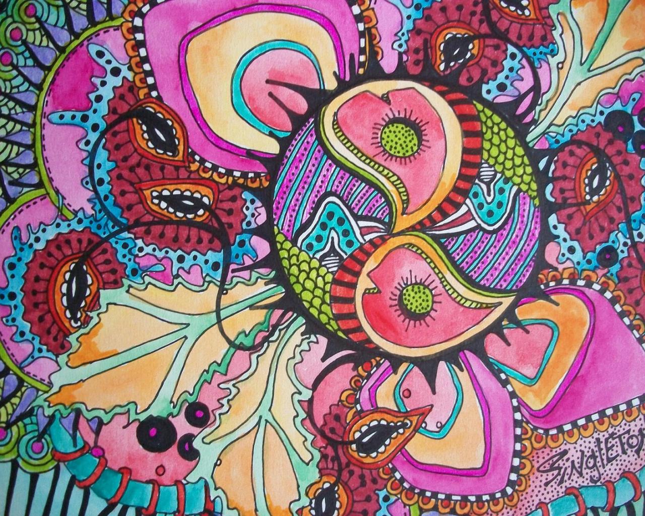 1500x1125px Trippy Hippie Wallpaper