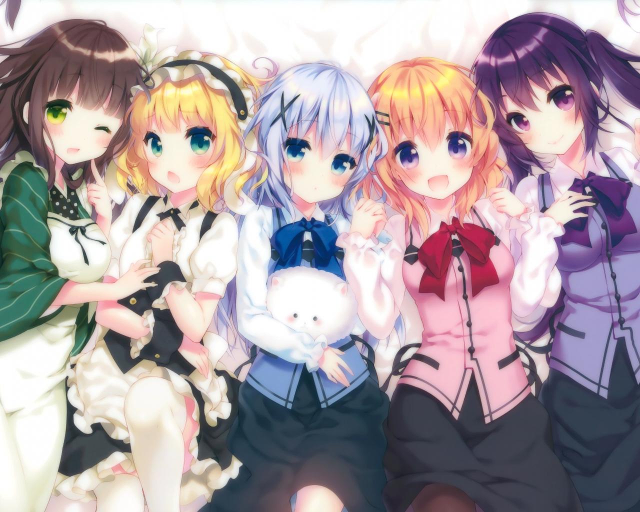 Free Download Anime Anime Girls Gochuumon Wa Usagi Desu Ka Kafuu