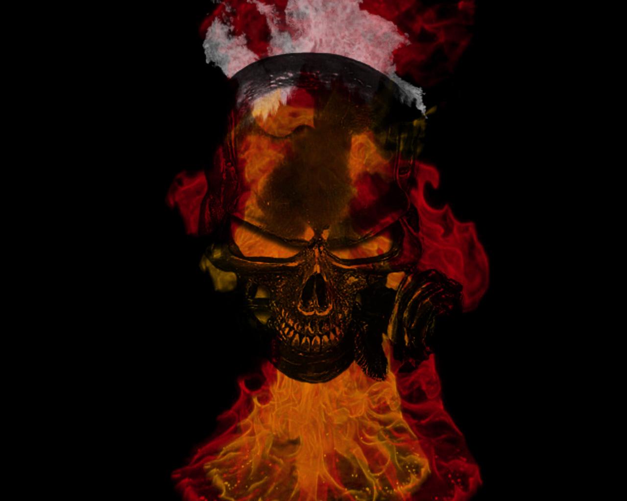 Flaming Skulls Wallpaper Skull 1280x1024 Download Resolutions Desktop