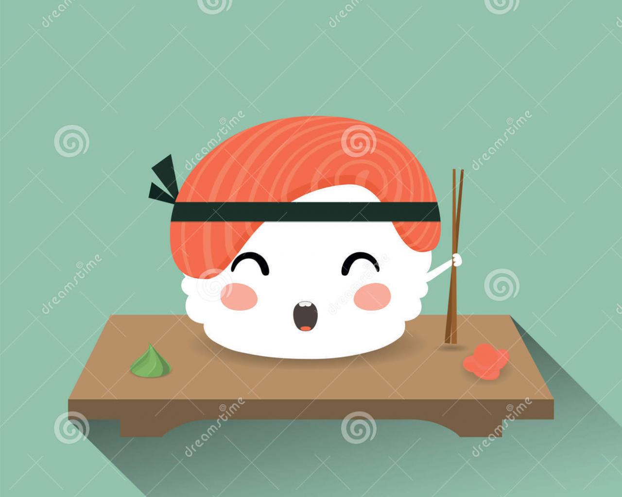 Free Download Cute Cartoon Sushi Stock Photos By