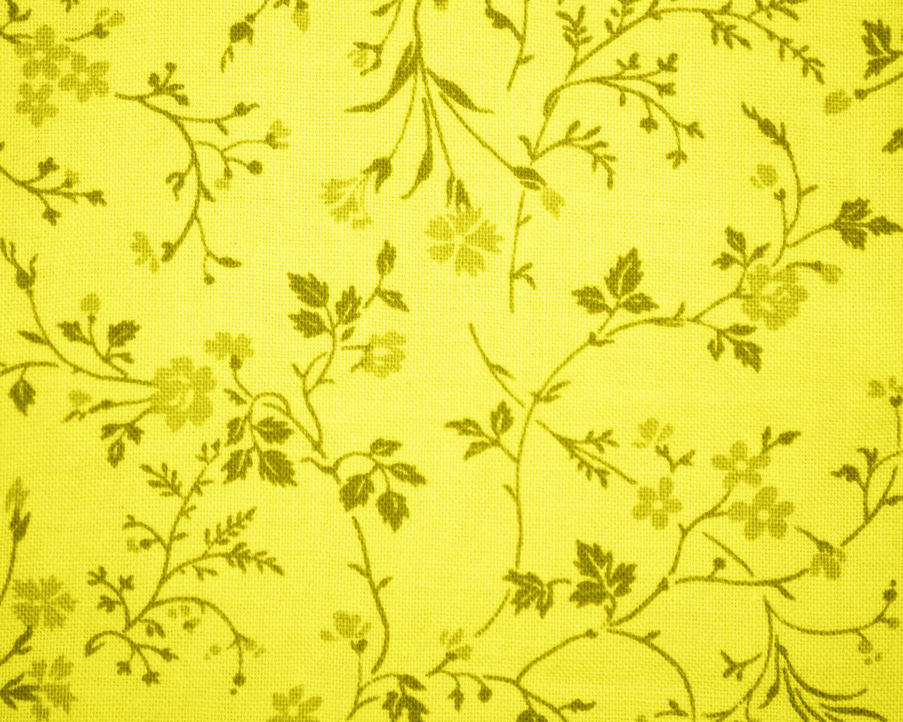 Free Download Yellow Floral Print Fabric Texture High Resolution