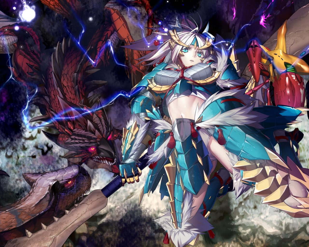 Free Download Anime Girl Monster Hunter Dragon Armor Weapon Hd Wallpaper 1680x1050 For Your Desktop Mobile Tablet Explore 71 Anime Dragon Wallpaper Anime Dragon Wallpaper Dragon Backgrounds Dragon Wallpapers The classic hunter look in monster hunter world is the stylish leather look of the hunter outfit. free download anime girl monster hunter