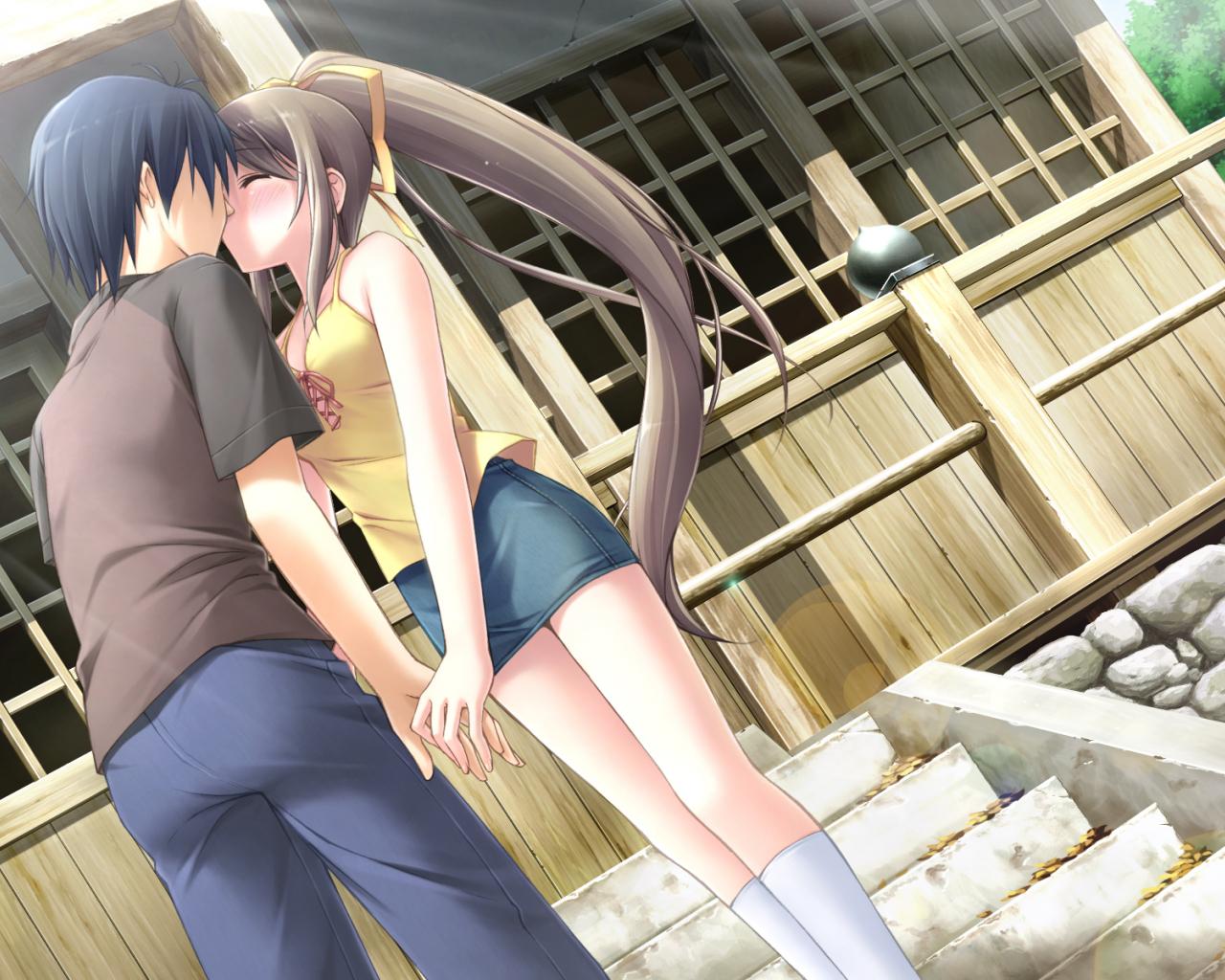 Free Download Wallpapers Hd Sweet Kiss Anime Fond D Cran