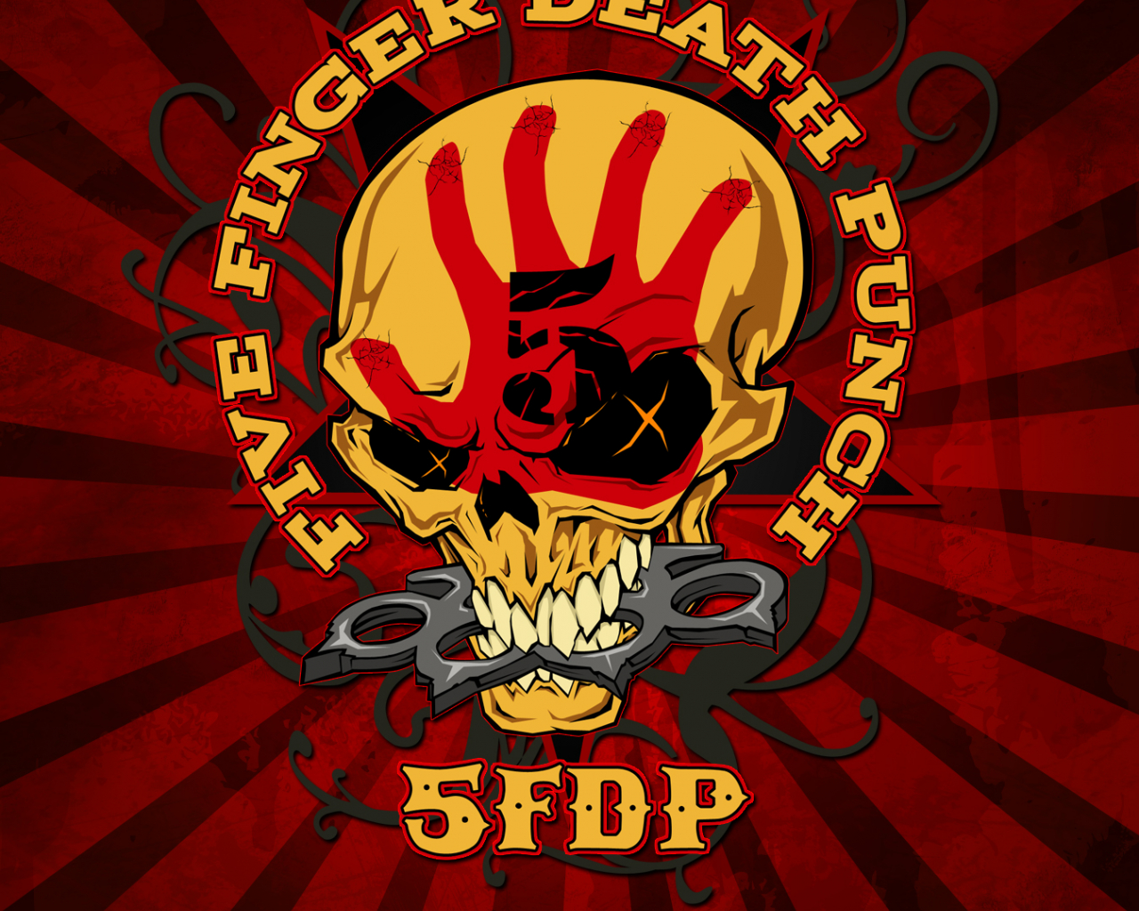 Free Download Wallpaper Five Finger Death Punch Logo Quote