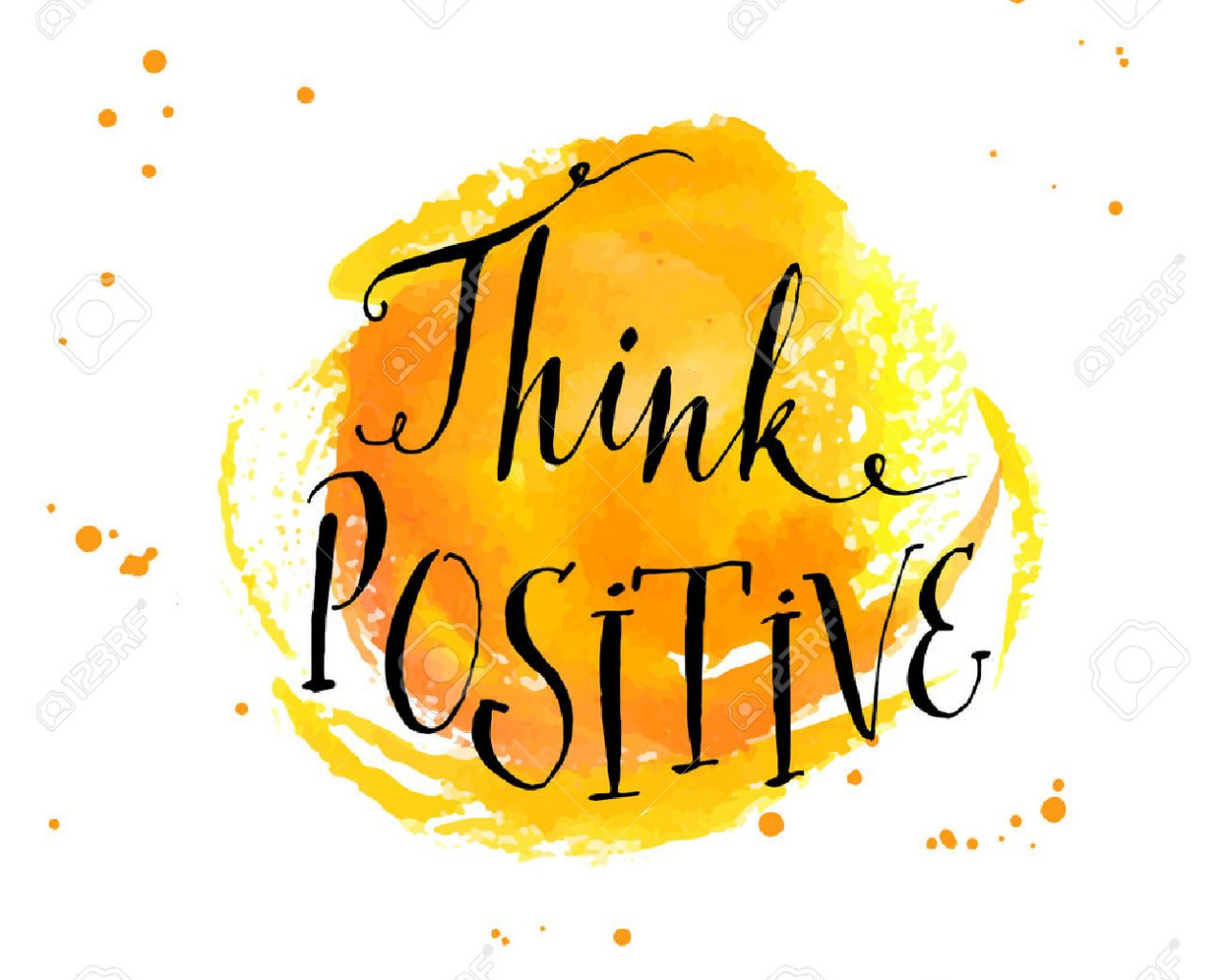 Free Download Modern Calligraphy Inspirational Quote Think Positive At 1300x1300 For Your Desktop Mobile Tablet Explore 36 Positivity Background Positivity Background