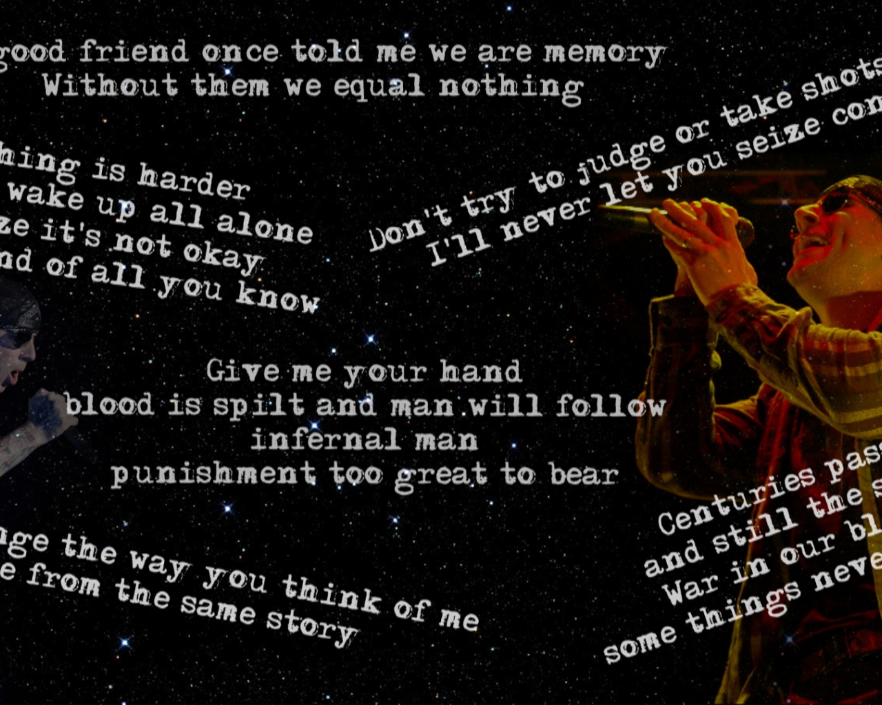 Free download M Shadows wallpaper with lyrics by Feargm
