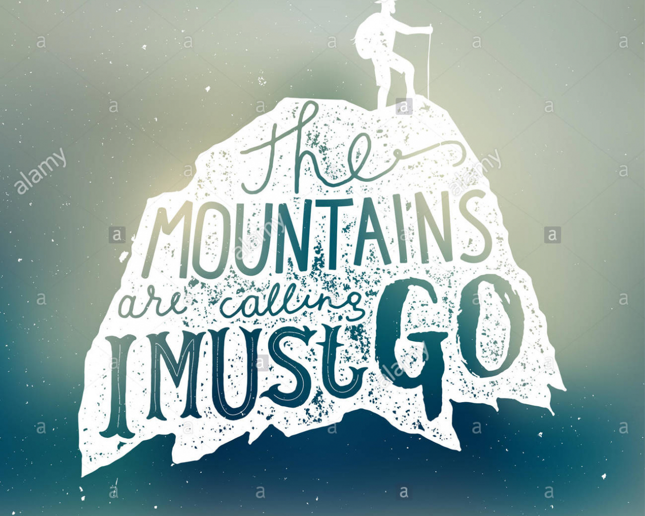 Free Download The Mountains Are Calling And I Must Go Lettering