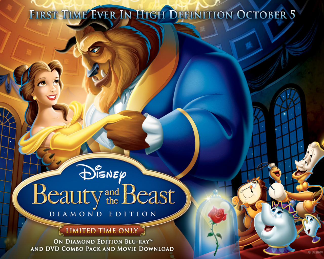 Free Download Beauty And The Beast Wallpaper Beauty And The