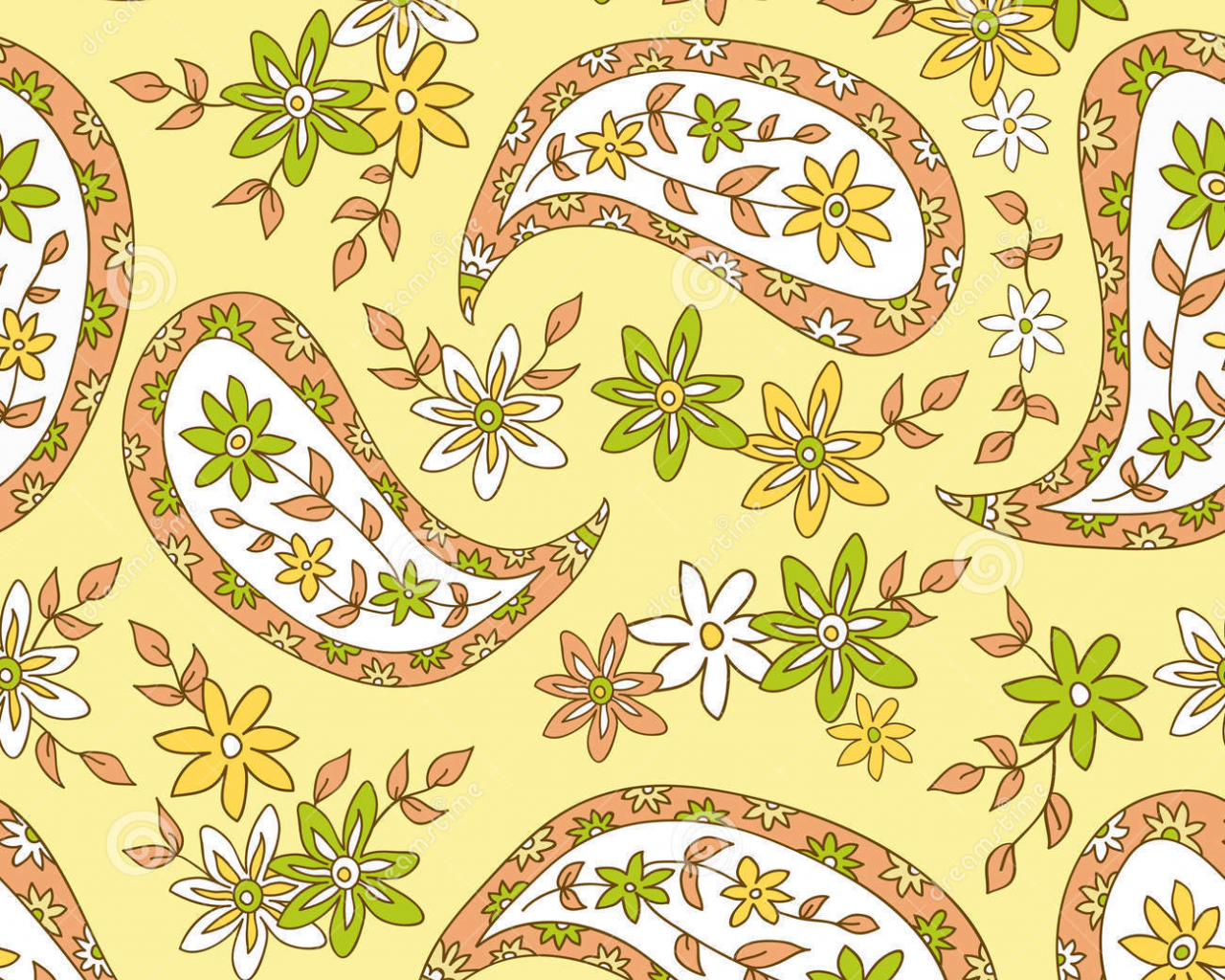Free Download Yellow Paisley Wallpaper Paisley Yellow Summer