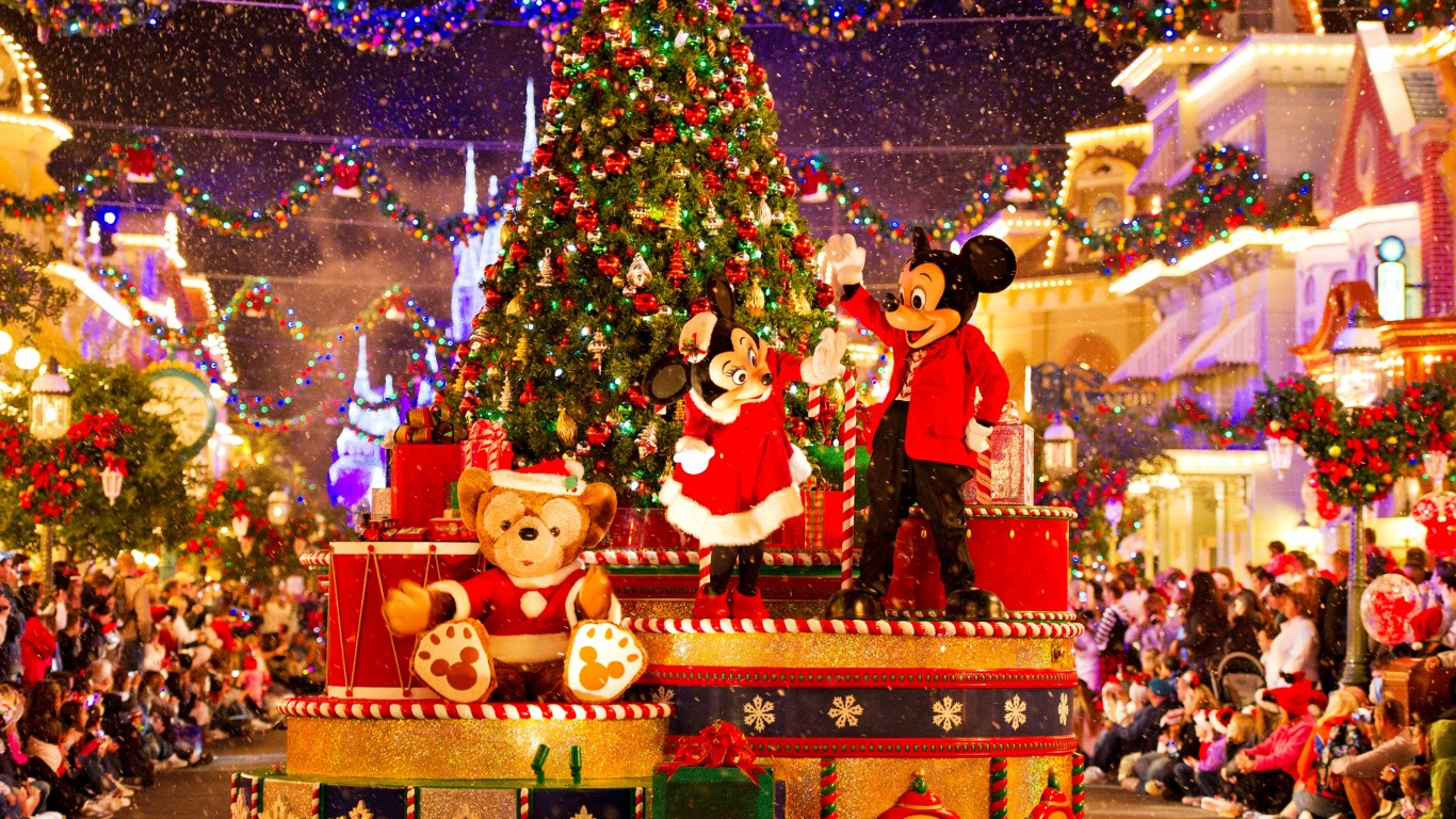 Free Download Mickey Mouse And Minnie Mouse Christmas Parade