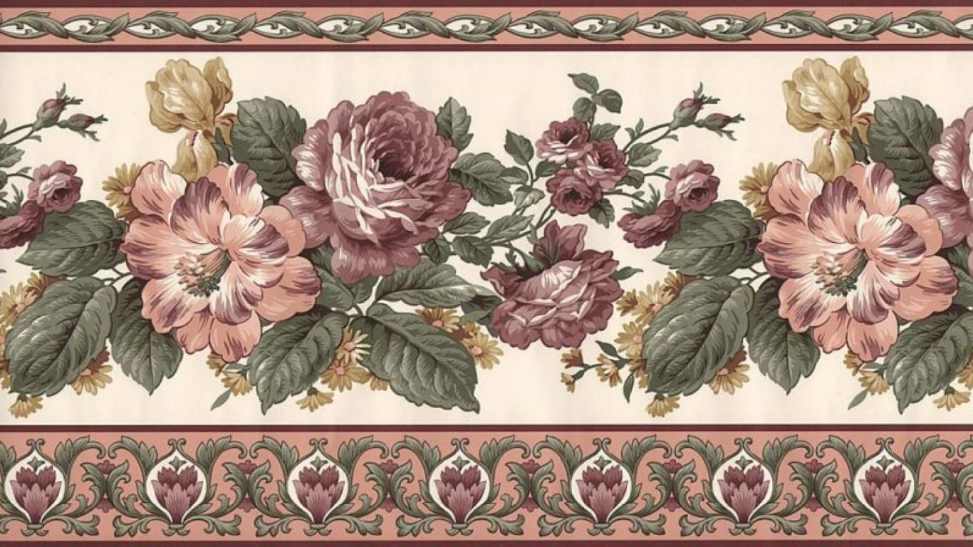 Free Download Victorian Border Wallpaper Floral Victorian