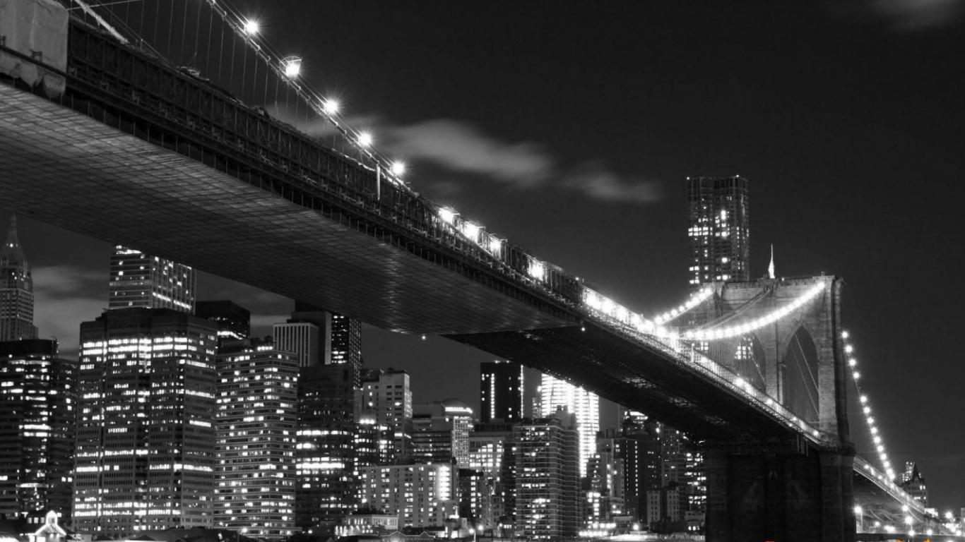 Free Download Wall Mural Wallpaper Brooklyn Bridge New York Night