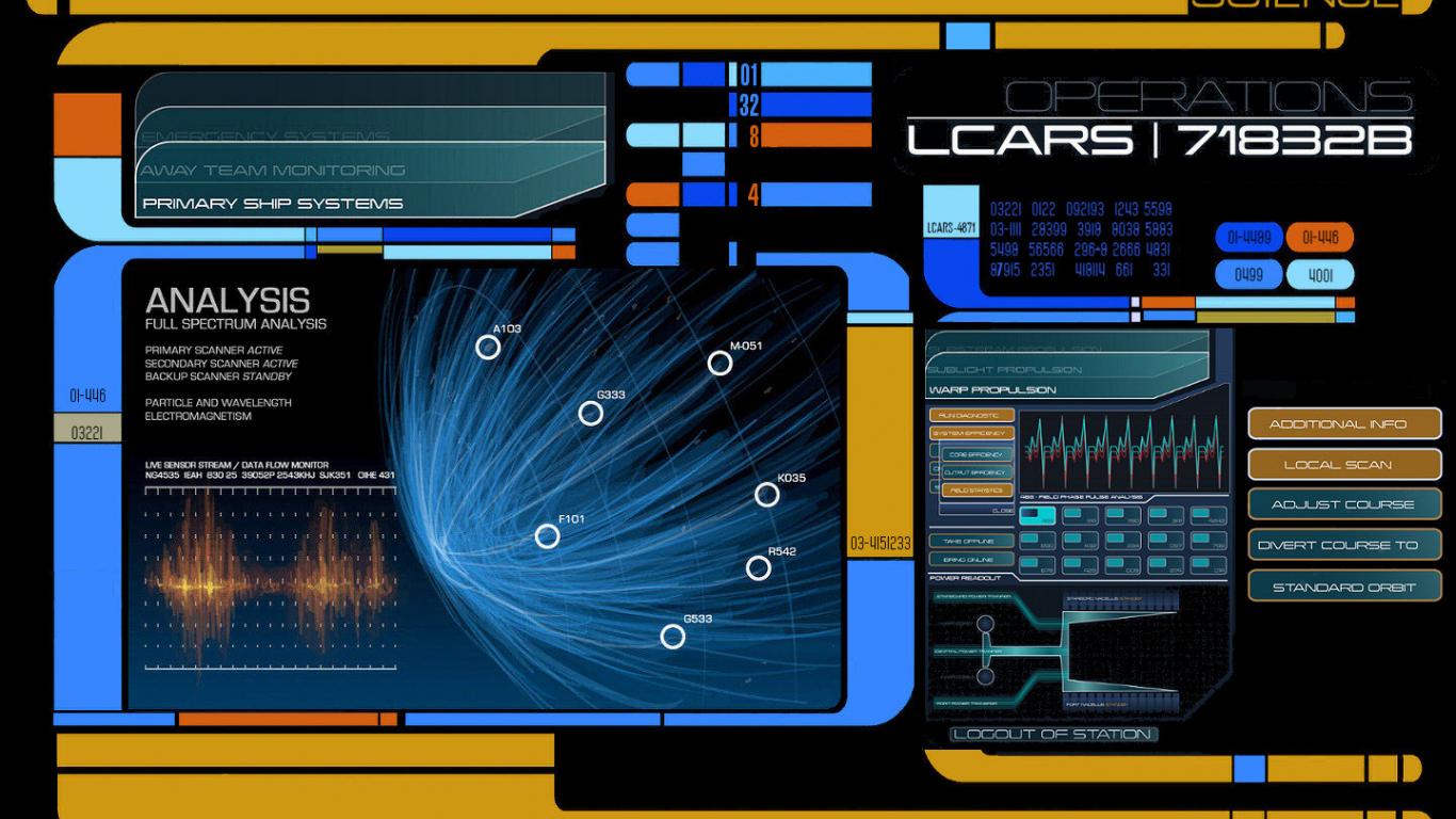 Free Download Star Trek Next Generation Lcars Science Console Screen 1440x900 For Your Desktop Mobile Tablet Explore 47 Star Wars Lock Screen Wallpaper Star Wars Windows 10 Wallpaper Lumia