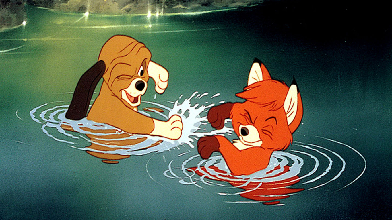 Free Download Todd And Copper Playing The Fox And The Hound