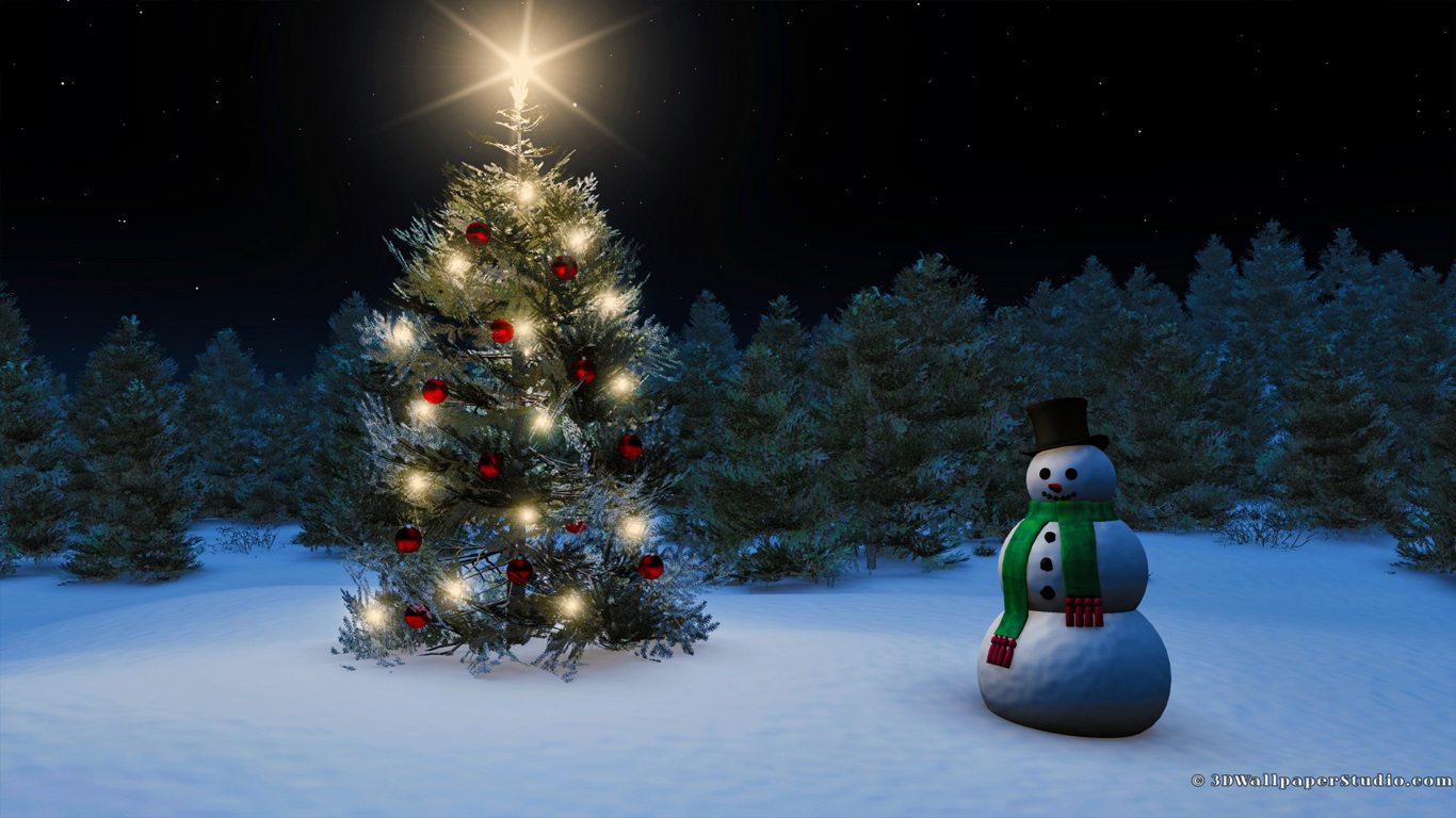 Free Download Christmas Wallpaper In 1366x768 Screen Resolution