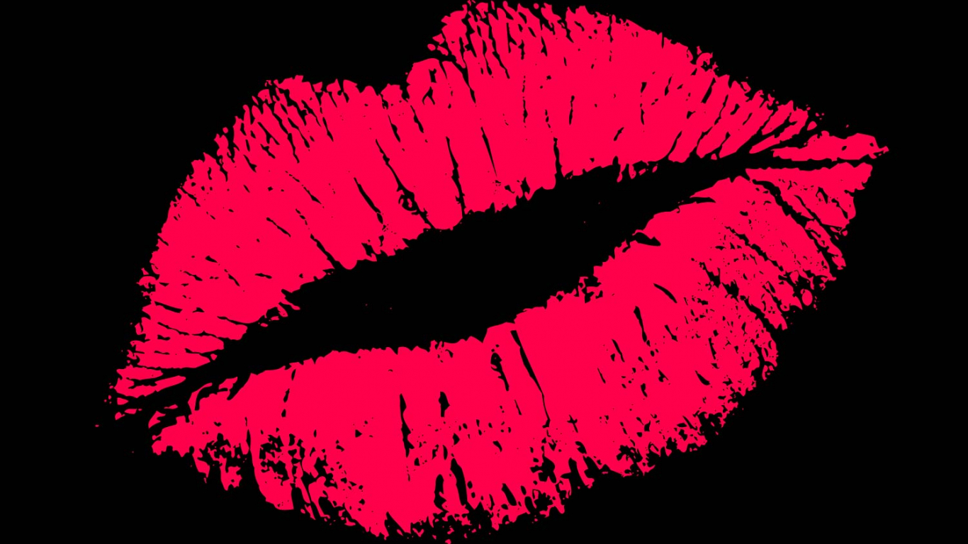 Рамки, поцелуи на экран открытка