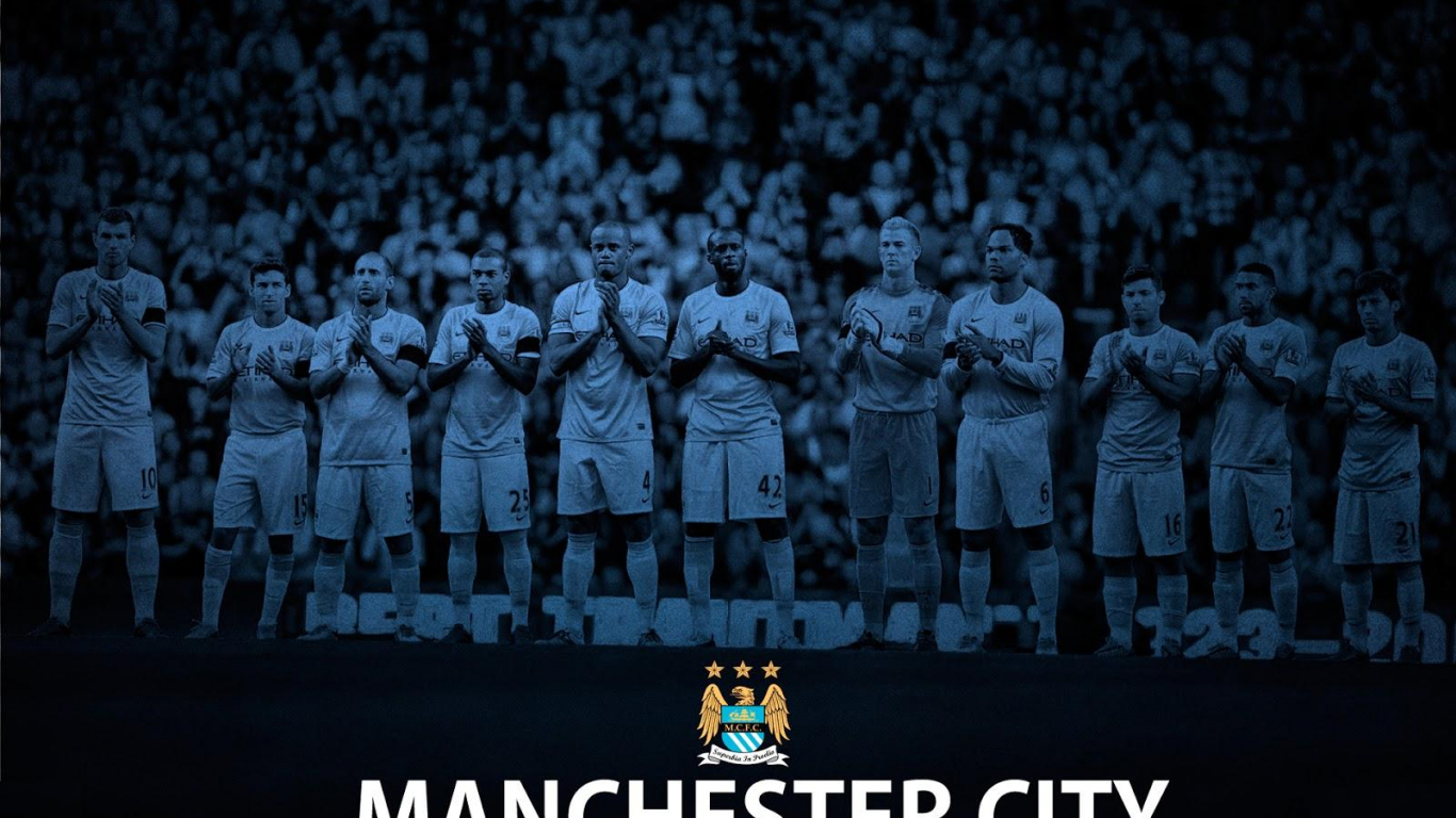 Free Download Wallpaper Manchester City Full Team 2016