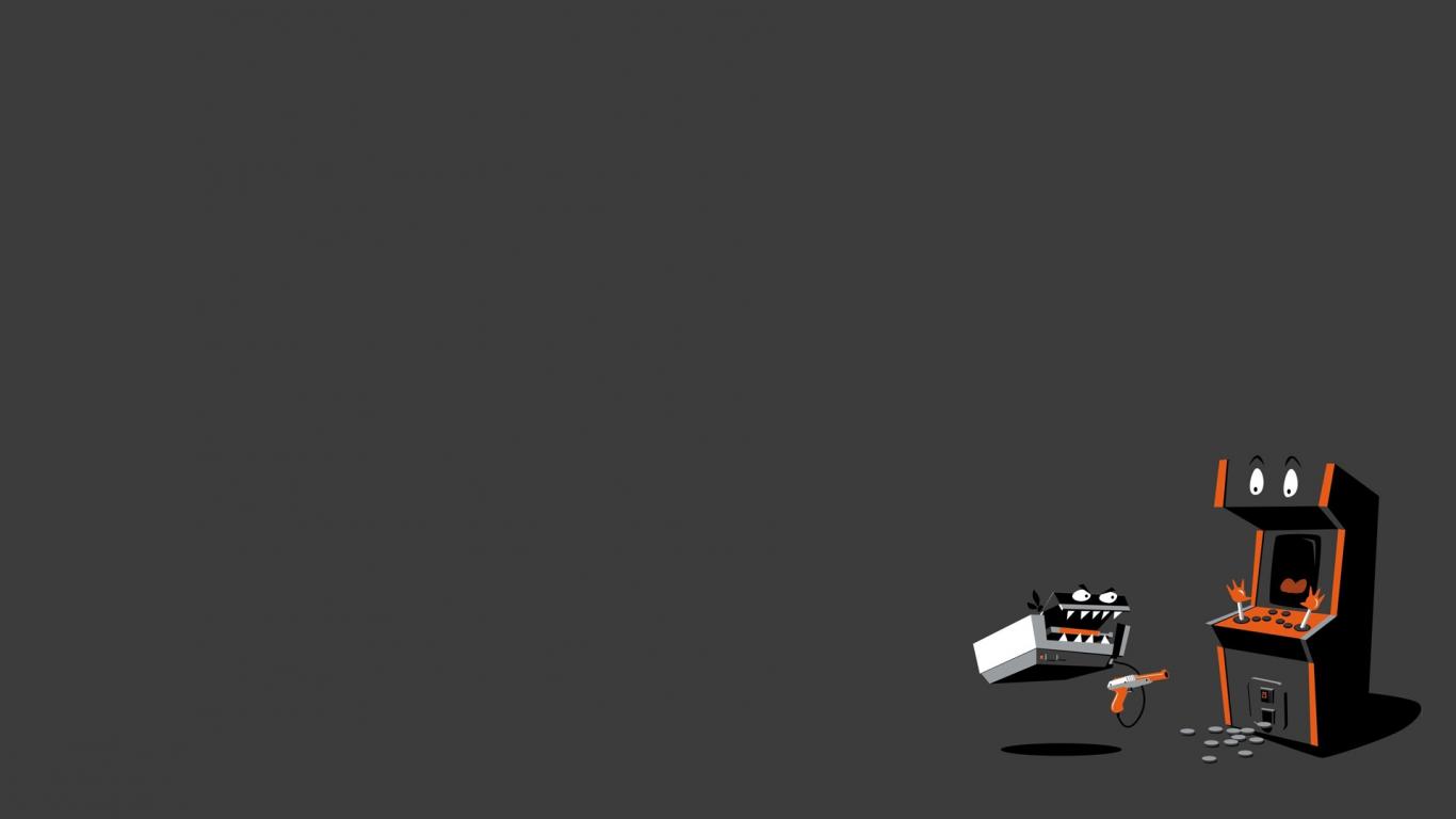 Free download Video games minimalistic machines fun art ...