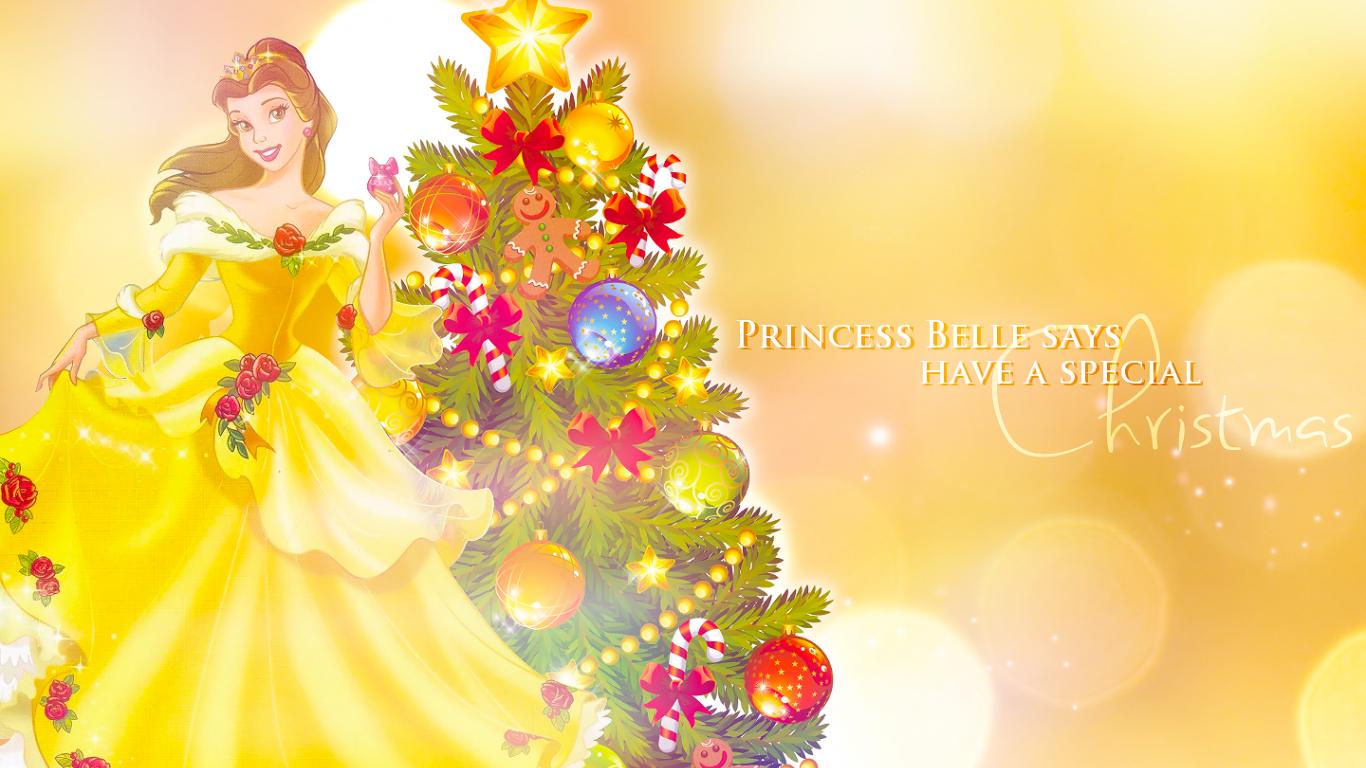 Disney Princess Christmas Wallpaper Holiday Belle 37918623 1440x900