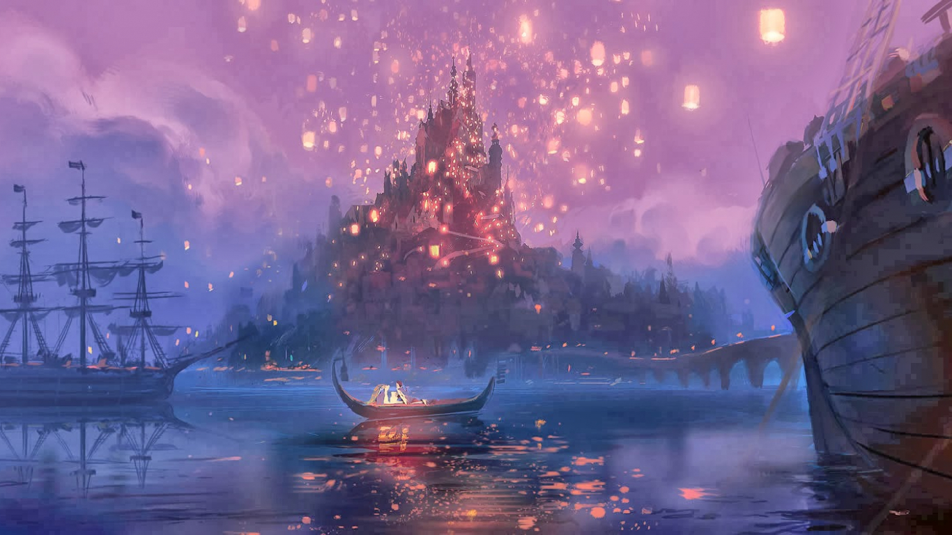 disney wallpapers tangled castle