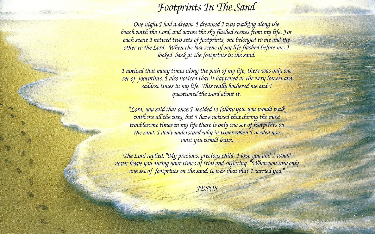 image regarding Footprints in the Sand Printable named Absolutely free down load Footprints Inside The Sand Poem Printable
