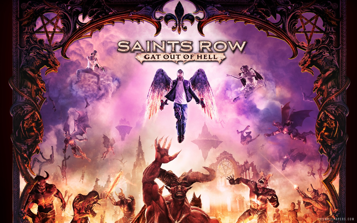 Free Download Saints Row Iv Gat Out Of Hell Hd Wallpaper Ihd