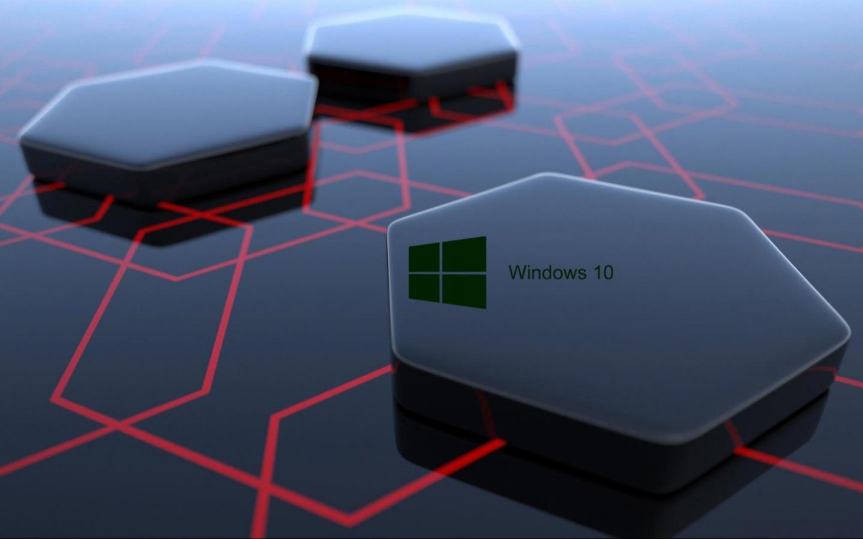 Free Download Windows 10 Desktop Image With 3d Art Black Hexagonal