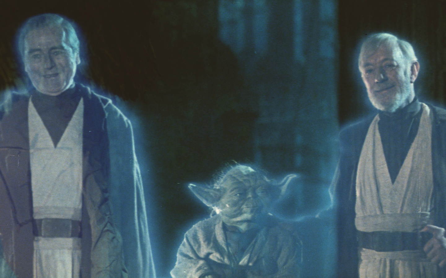Free Download Vi Return Of The Jedi Yoda Old Anakin Obi Wan Spirits Hd Wallpaper 3520x1510 For Your Desktop Mobile Tablet Explore 50 Return Of The Jedi Wallpaper Star
