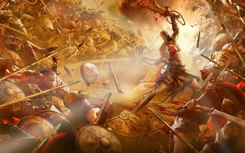 Free Download Thread Kratos Vs 300 God Of War 2 Wallpaper Kratos