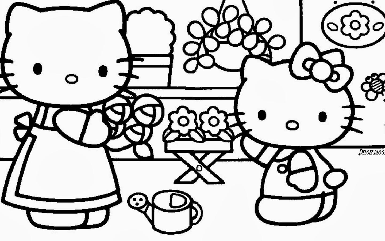 Free Download Gambar Hello Kitty Untuk Diwarnai Deloiz Wallpaper