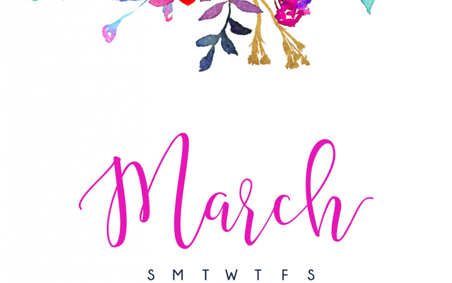 Free Download March 2017 Calendar Tech Pretties Dawn Nicole