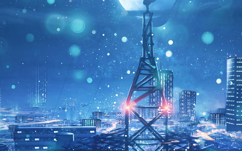 Free Download Night Sky City Stars Anime Scenery 4k Wallpaper 135 1440x3040 For Your Desktop Mobile Tablet Explore 55 Anime Iphone 11 4k Wallpapers Anime Iphone 11 4k Wallpapers