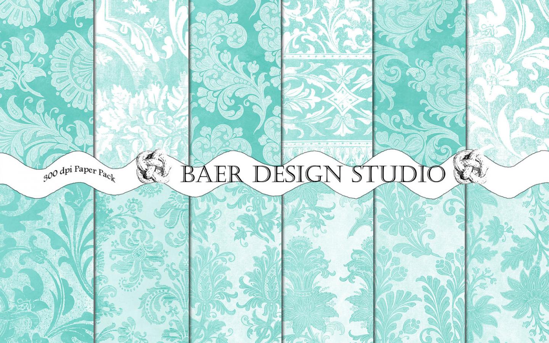 Free Download Mint Green Damask Wallpaper Tiffany Blue Damask
