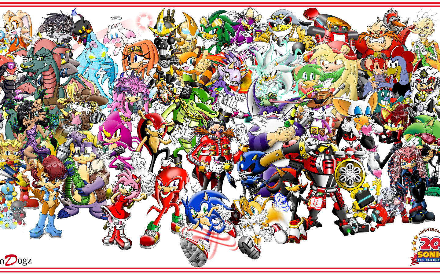 Free Download Sonic The Hedgehog Characters Names Brodogz 20th Sonic Anniversary 1600x900 For Your Desktop Mobile Tablet Explore 49 Sonic Characters Wallpaper Sonic The Hedgehog Wallpaper Sonic Wallpaper Sonic Hd Wallpaper
