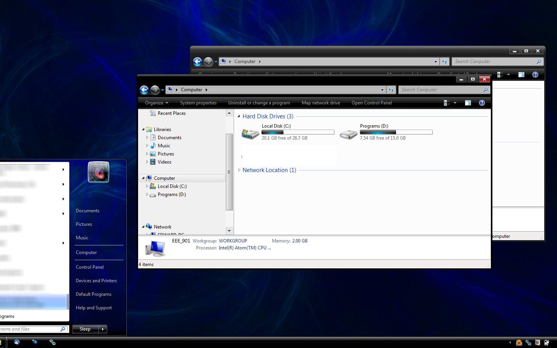 Free download Nightrium Windows7 Basic Theme by Nitrium
