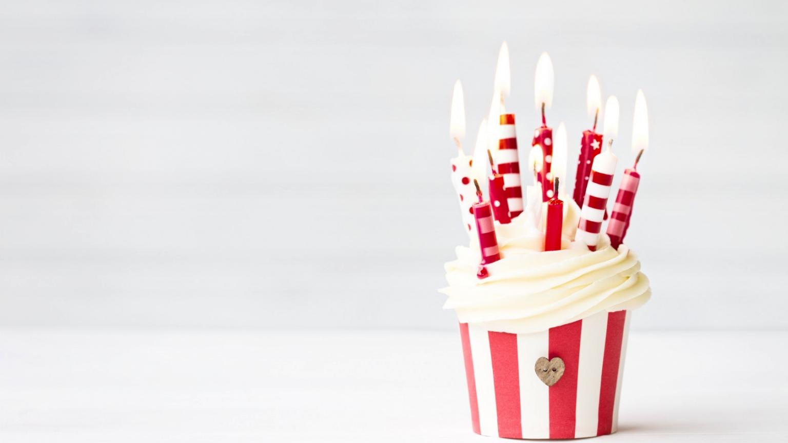 Happy Birthday Cupcake Wallpaper